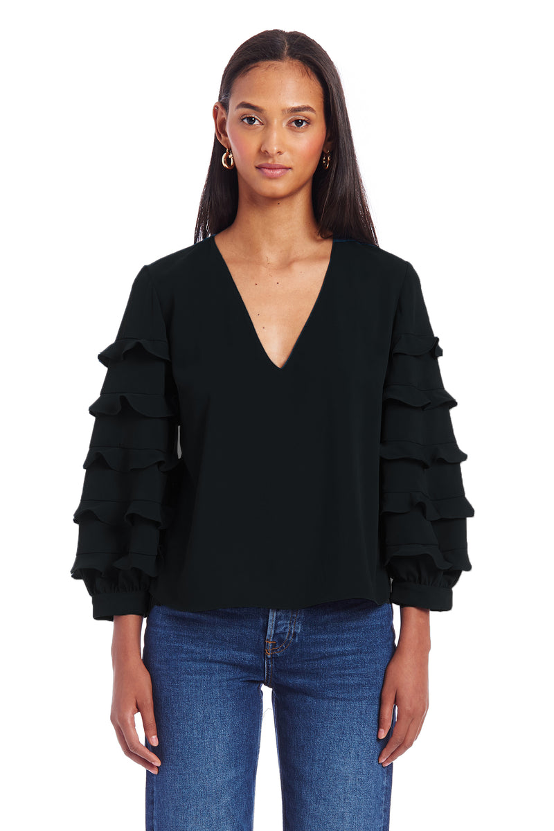 Amanda Uprichard Tawny Top - Black | Women's Tops