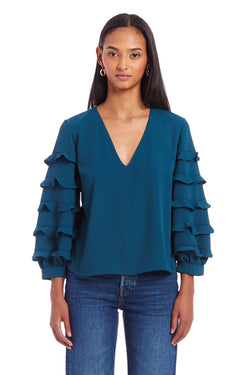 Amanda Uprichard Tawny Top - Conifer | Women's Tops