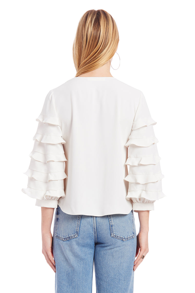 Amanda Uprichard Tawny Top - Ivory | Women's Tops