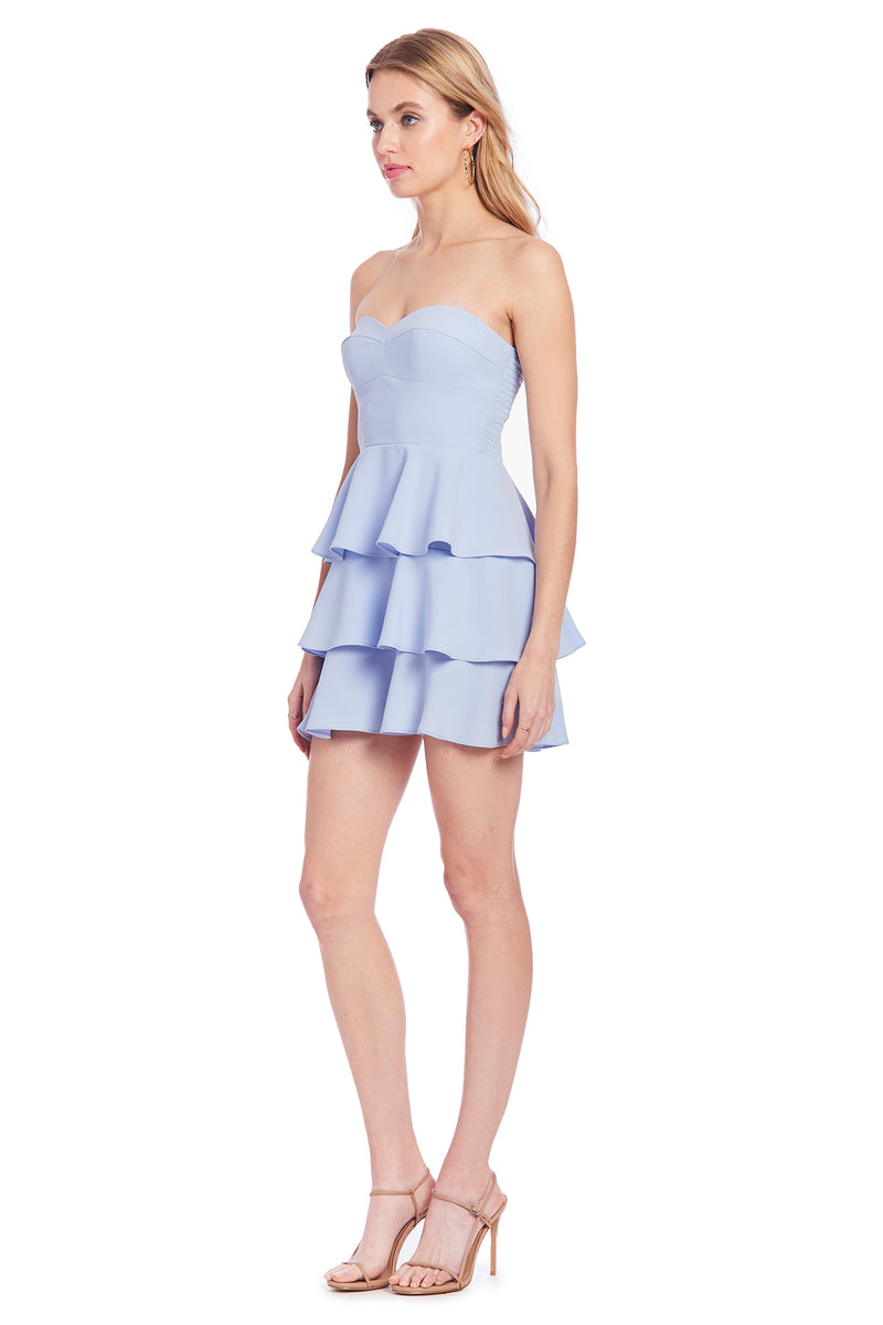 Amanda Uprichard Tiered Ruffle Dress - Blue | Women's Dresses