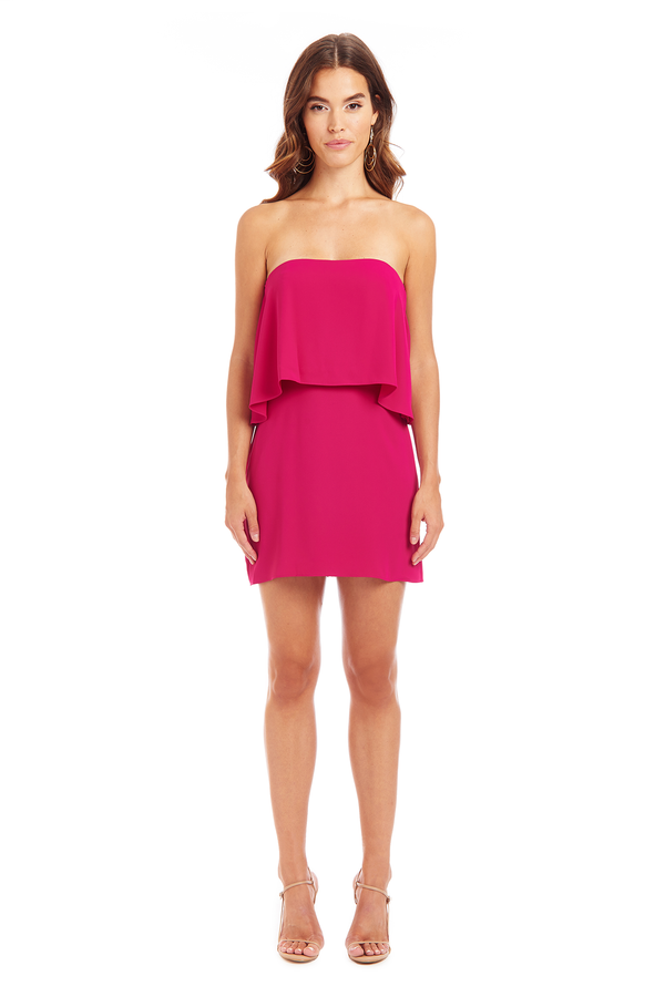 Amanda Uprichard Topanga Mini Dress - Magenta | Women's Dresses