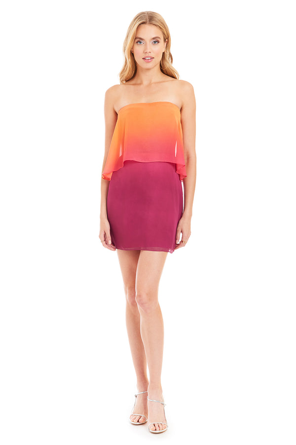 Amanda Uprichard Topanga Mini Dress - Pink Ombre | Women's Dresses
