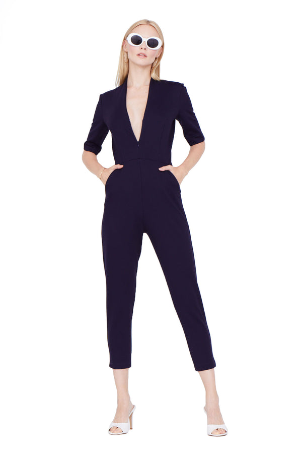 Amanda Uprichard Tory Catsuit - Womens Jumpsuits
