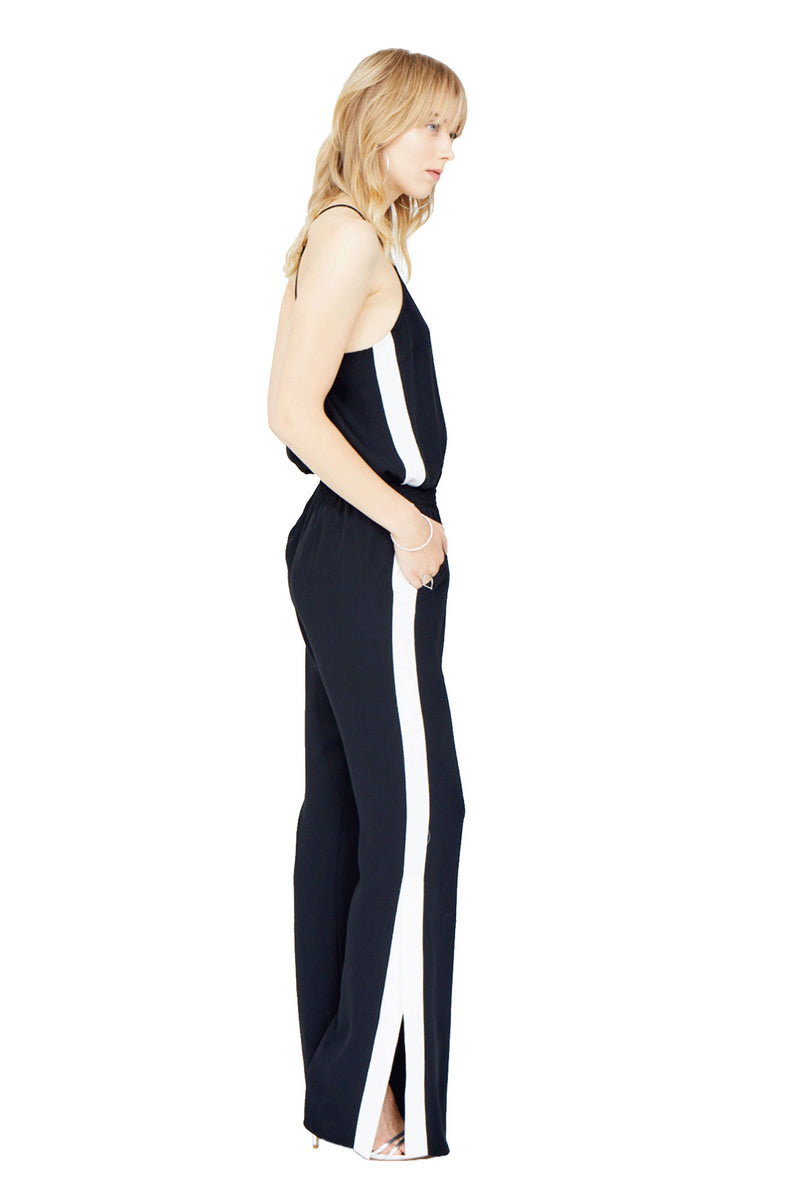 Amanda Uprichard Track Jumpsuit - Womens Jumpsuits