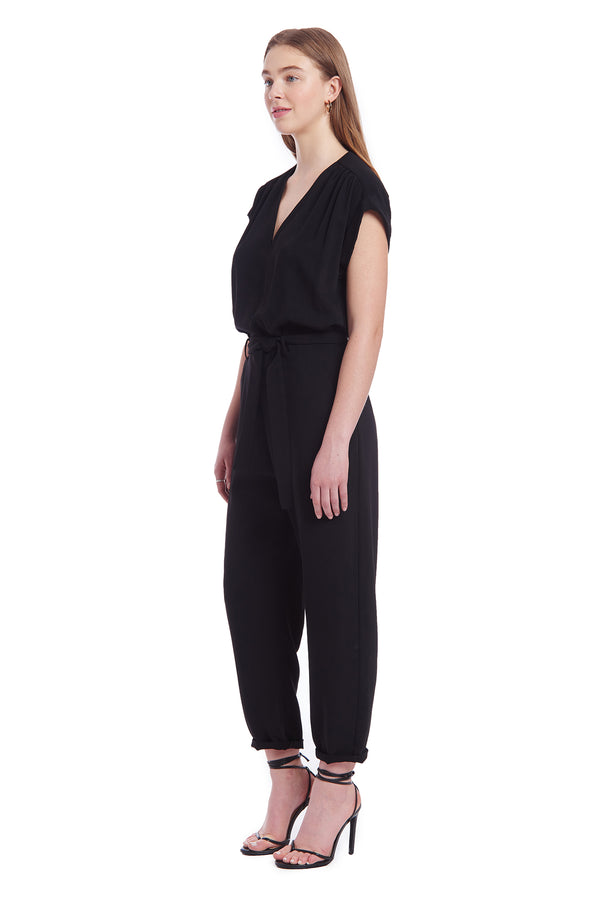 Amanda Uprichard Vista Jumpsuit - Black | Women's Jumpsuits
