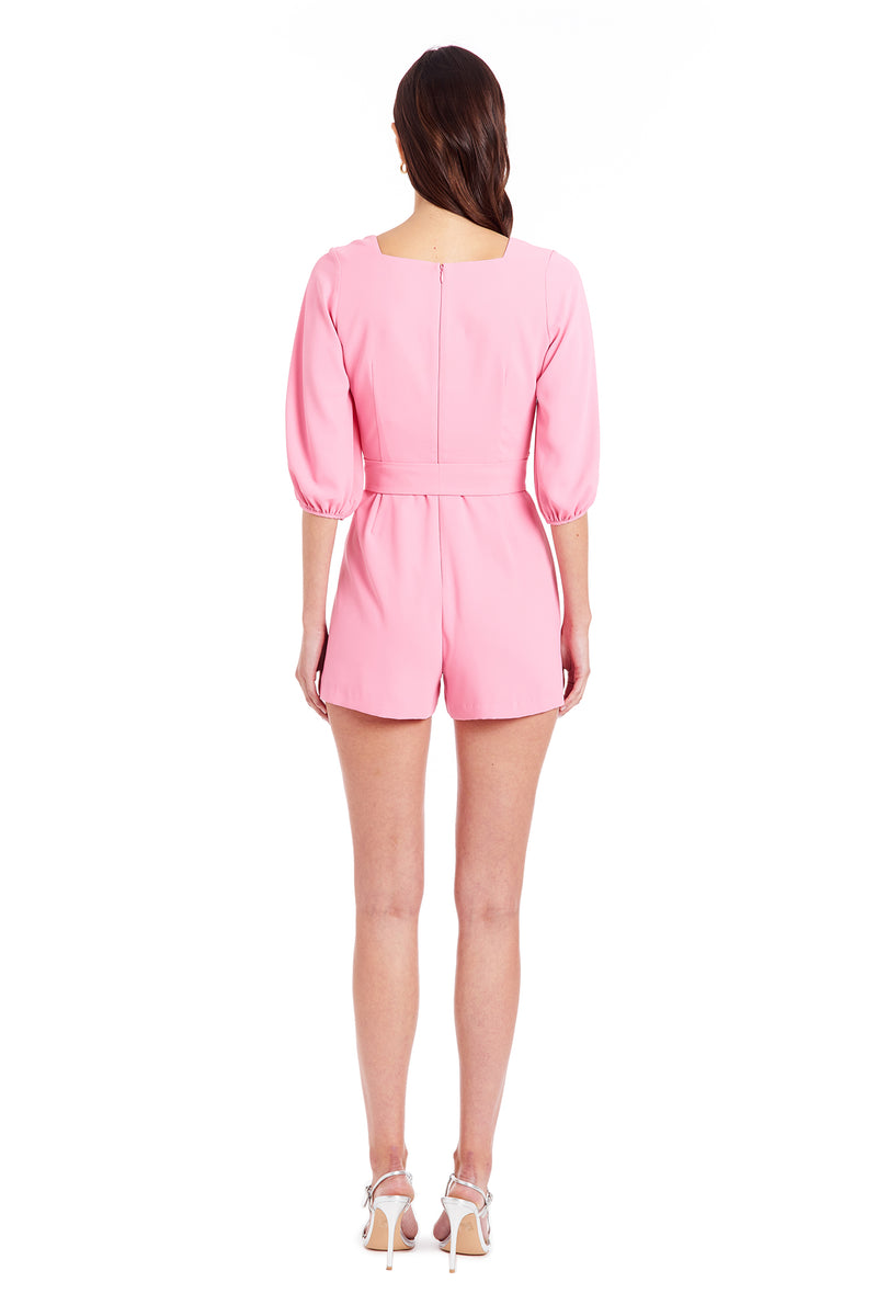 Amanda Uprichard Walsh Romper - Pink | Women's Jumpsuits & Rompers