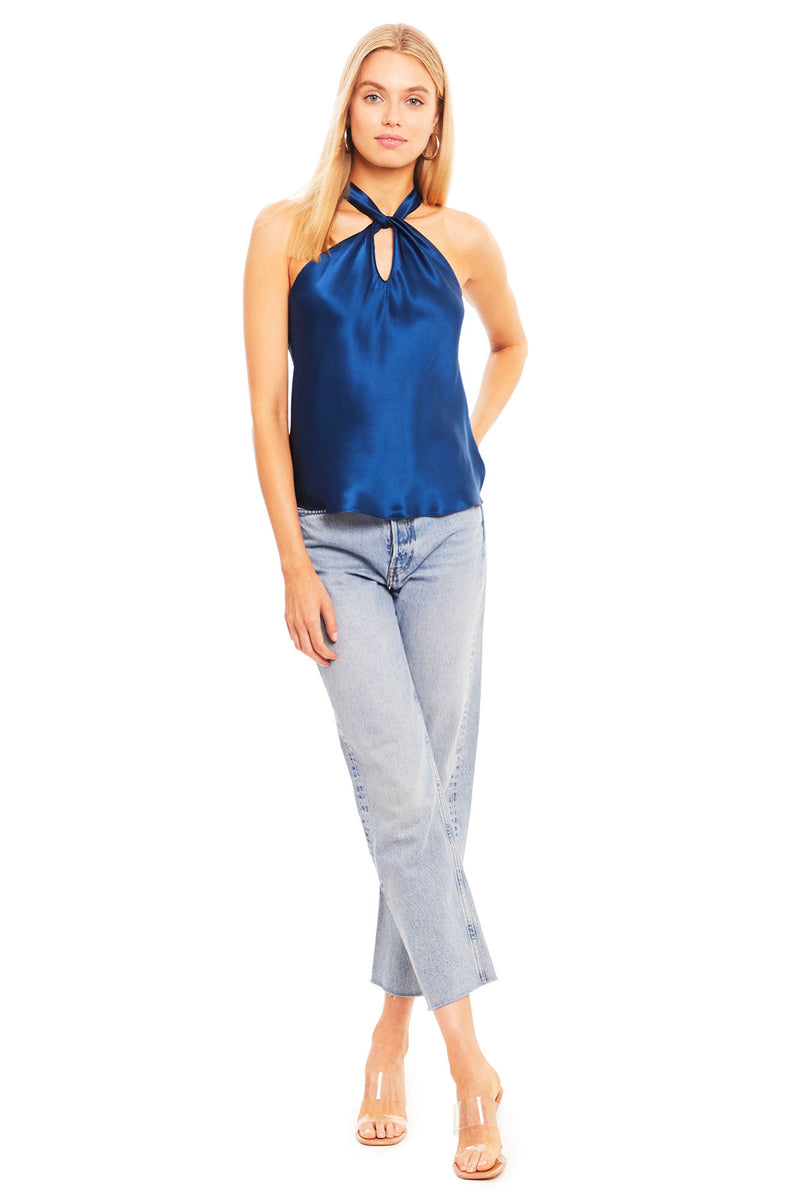 Amanda Uprichard Wanda Top - Blue | Women's Tops