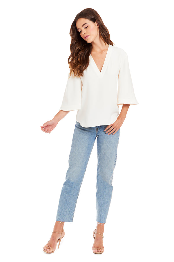 Amanda Uprichard Weylyn Top - Ivory | Women's Tops