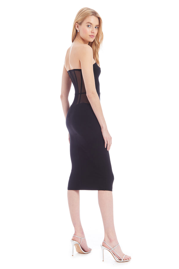 Amanda Uprichard Winona Dress - Black | Women's Dresses