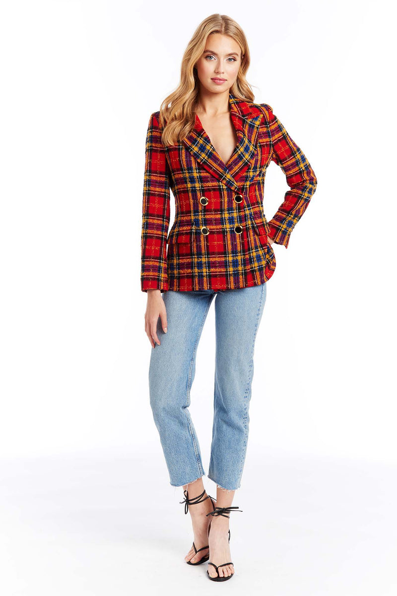 Amanda Uprichard Winters Blazer - Scotland Check | Women's Tops