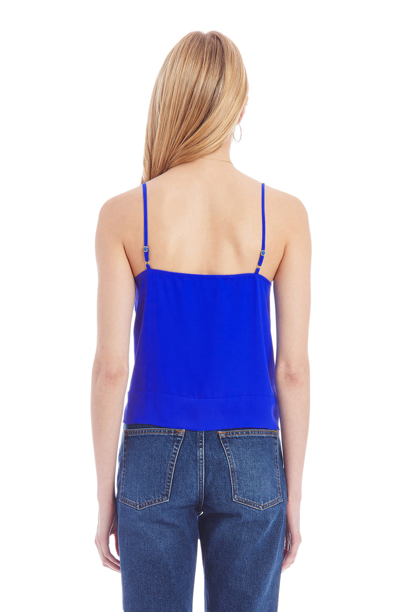 Amanda Uprichard Yara Cami - Blue | Women's Tops