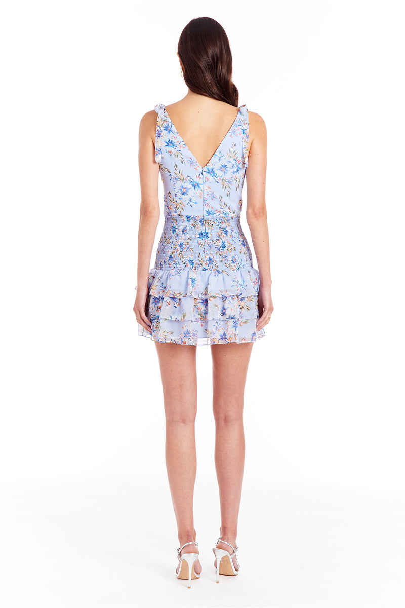 Amanda Uprichard Zita Dress - Aquaflora | Women's Dresses
