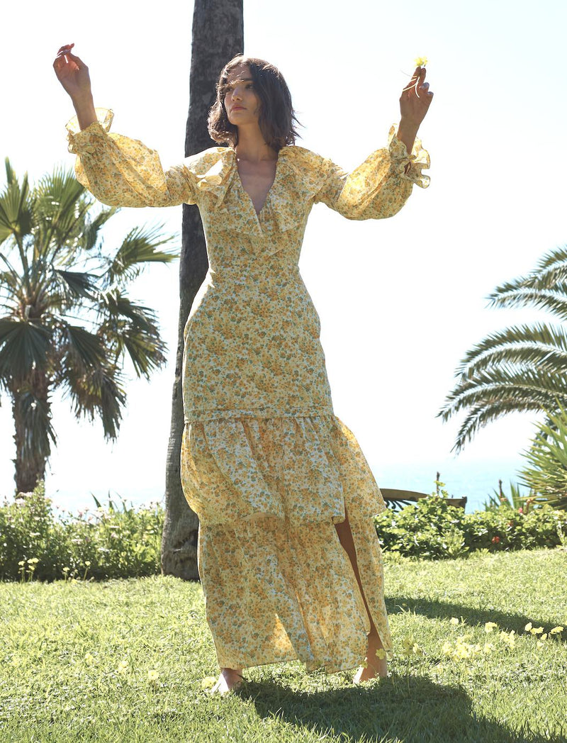 Janelle Maxi in Yellow Floral