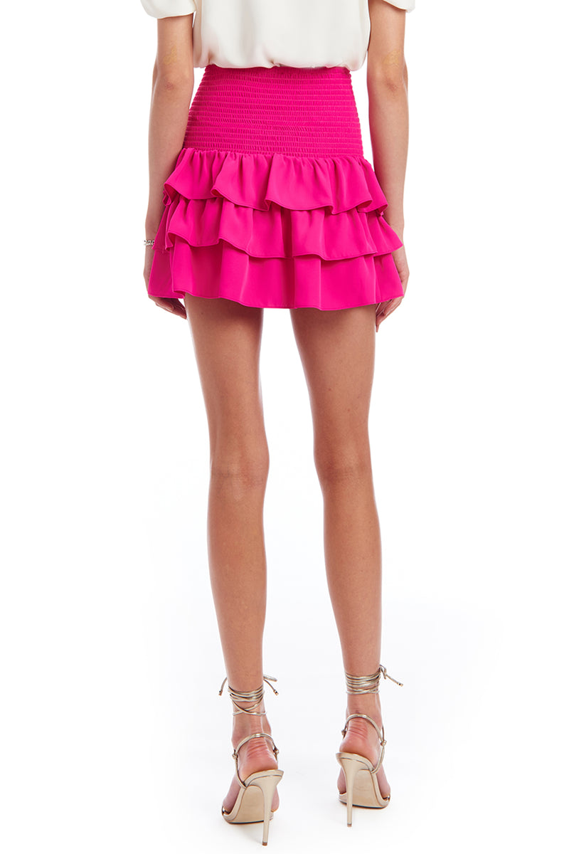 Amanda Uprichard Mariska Skirt - Pink | Women's Bottoms