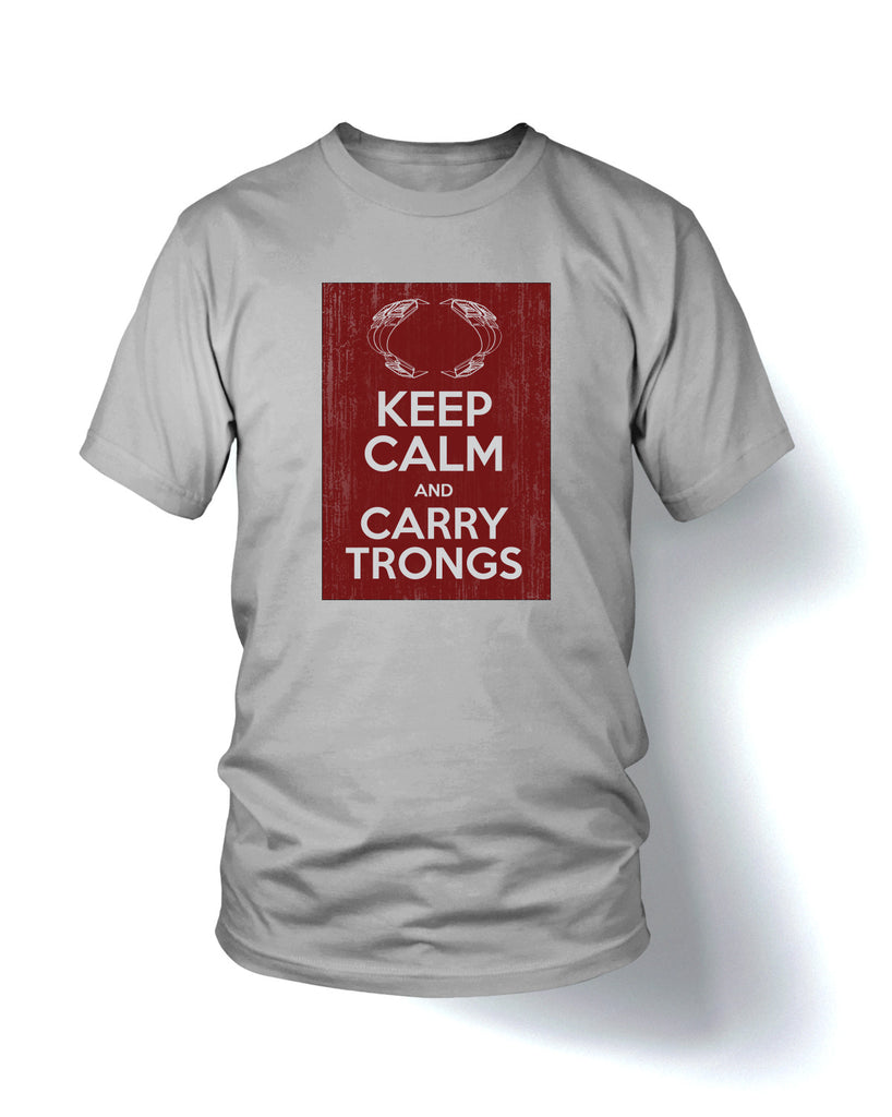 """KEEP CALM AND CARRY TRONGS"" Short Sleeve Tee"