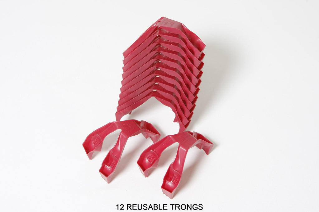 WHOLESALE REUSABLE  Trongs - 6 Pair Pack (12 burgundy trongs).