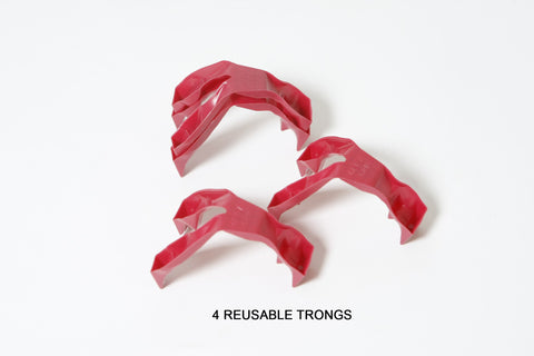 REUSABLE    Trongs - 2 Pair Pack (4 burgundy trongs)