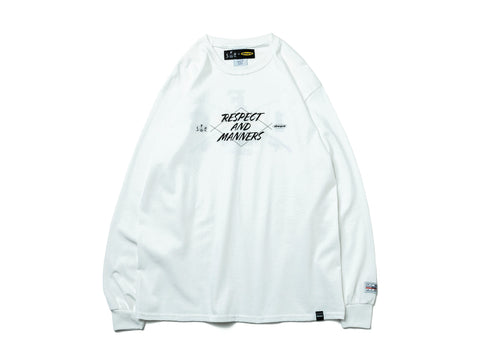 RESPECT & MANNERS L/S TEE【WHITE】