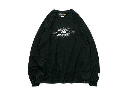 RESPECT & MANNERS L/S TEE【BLACK】