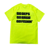 GO OUT×deps×BRGD TEE【SAFETY GREEN】