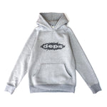 deps SHRED LOGO HOODIE【GRAY×BLACK】