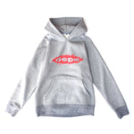 deps SHRED LOGO HOODIE【GRAY×RED】