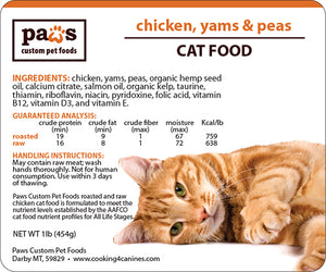 Chicken, Yams & Peas Cat Food