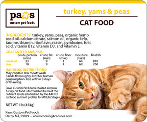 Turkey, Yams & Peas Cat Food