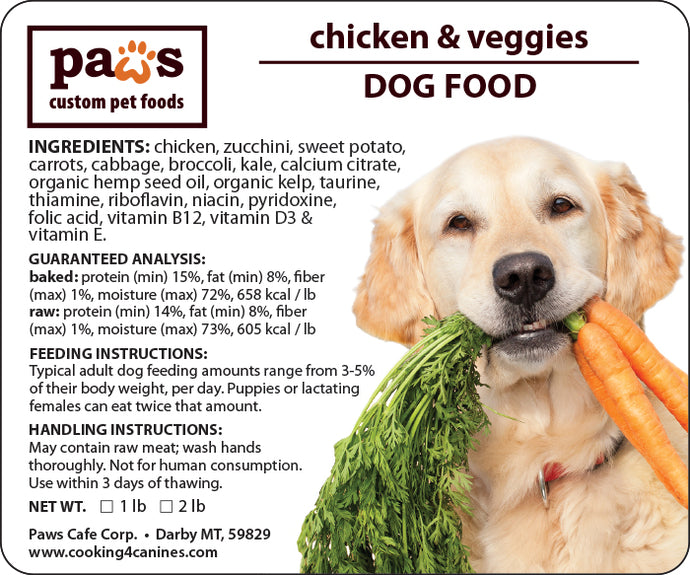 Chicken & Veggies Dog Food
