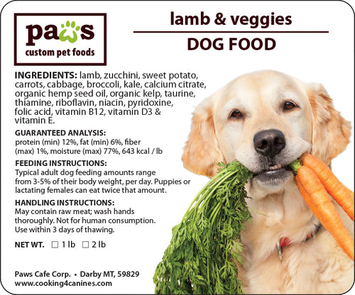 Lamb & Veggies Dog Food