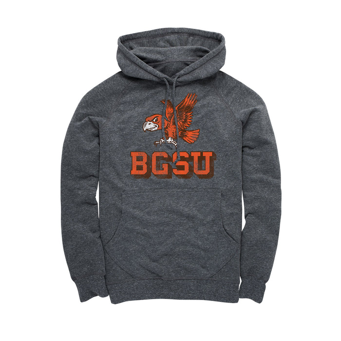 Bowling Green State University - Vintage BGSU - Men's Hoodie - Heather Black