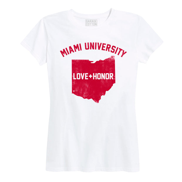 Miami University Love and Honor Women's Short Sleeve T-Shirt