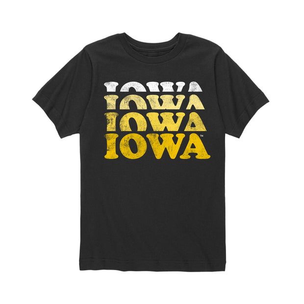 Faded Iowa Kids Short Sleeve T-Shirt