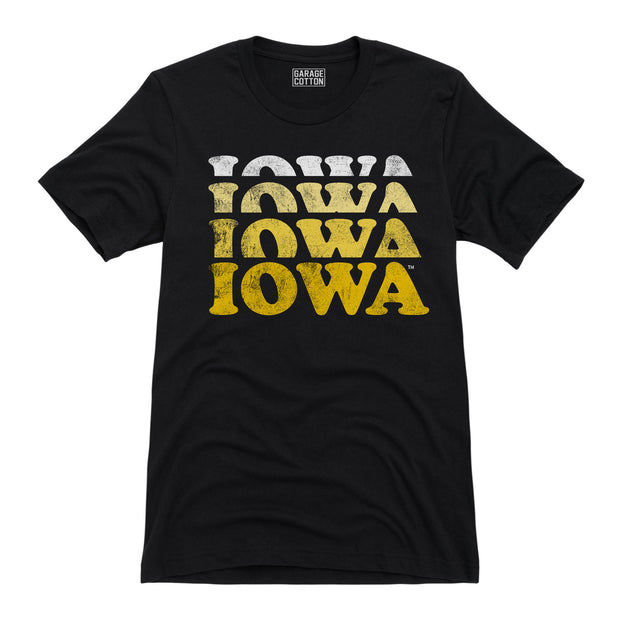 Faded Iowa Men's Short Sleeve T-Shirt