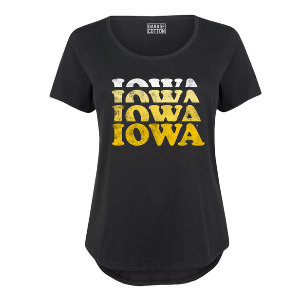 Faded Iowa Women's Plus Size T-Shirt