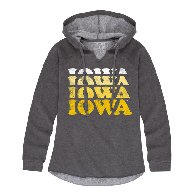 Faded Iowa Women's Hoodie