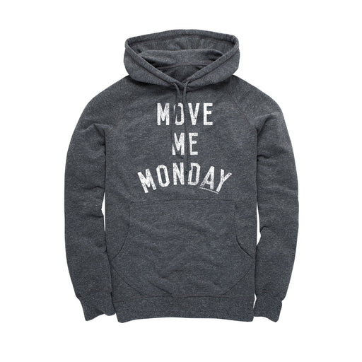 Move Me Monday White Graphic Hoodie