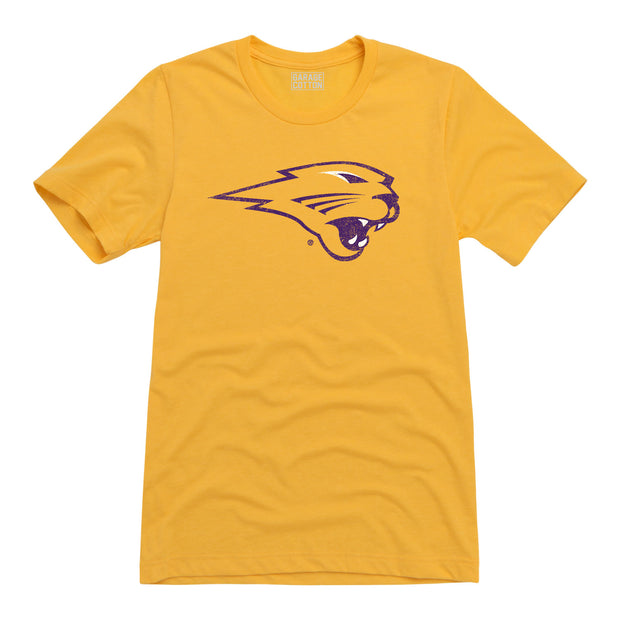 Purple Panther Logo Northern Iowa Men's Short Sleeve T-Shirt