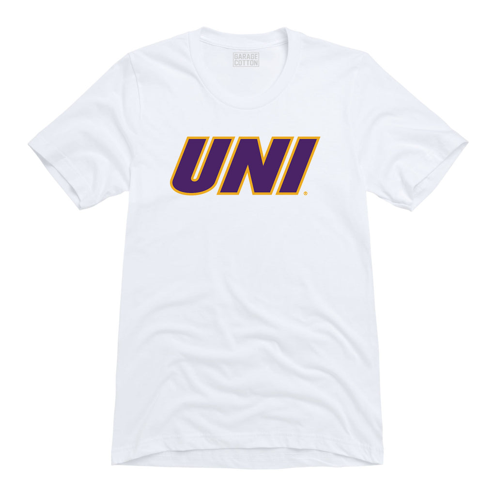 Block UNI on White Tee