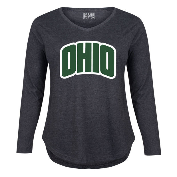 Arched Green Ohio - Women's Plus Size Long Sleeve T-Shirt