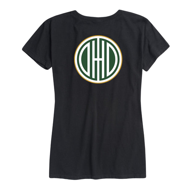 Vintage Ohio Logo Left Chest - Women's Short Sleeve T-Shirt