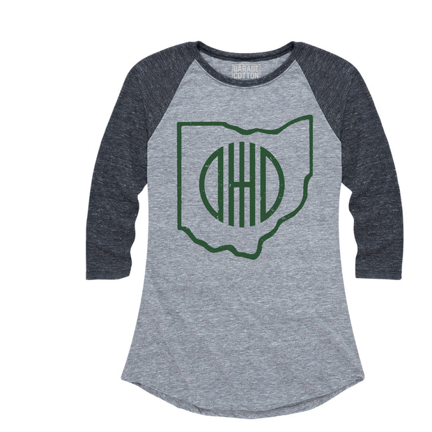 Ohio Outline - Women's Raglan