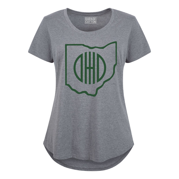 Ohio Outline - Women's Plus Size T-Shirt