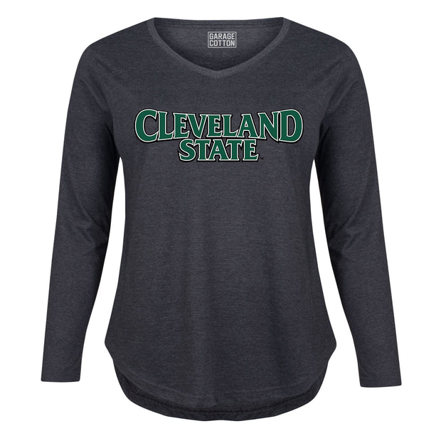 Cleveland State Women's Plus Size Long Sleeve T-Shirt