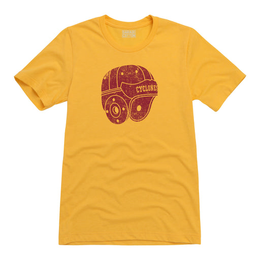 Iowa State Cyclones Leather Helmet Tee