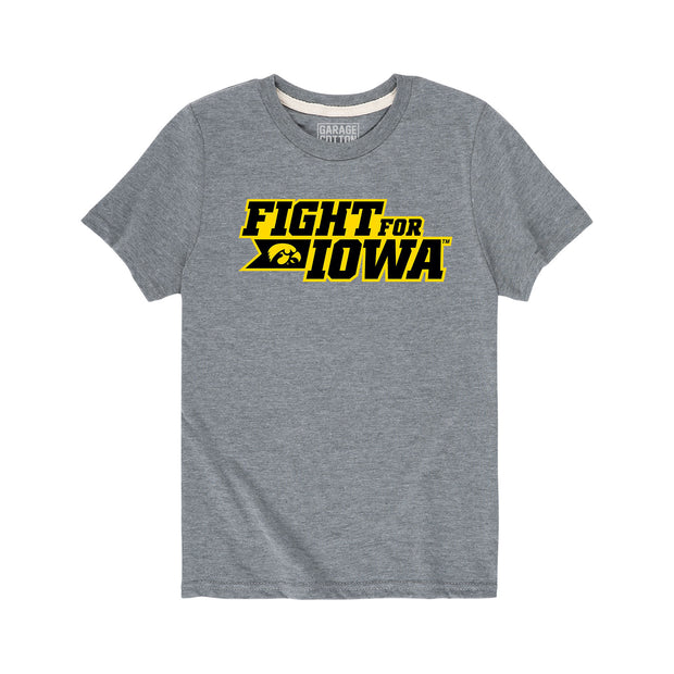 Fight for Iowa Football Kids Short Sleeve T-Shirt