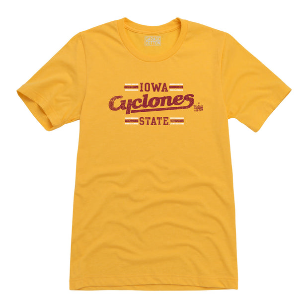 Iowa Cyclones State Men's Short Sleeve T-Shirt