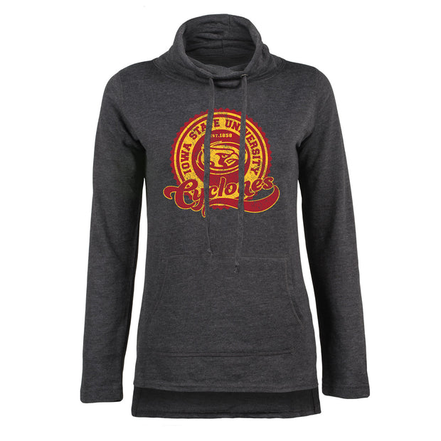 Iowa State University Cyclones Circle Women's Funnel Neck Pullover