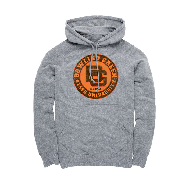BGSU Bowling Green Falcons Vintage Heathered Men's Hoodie