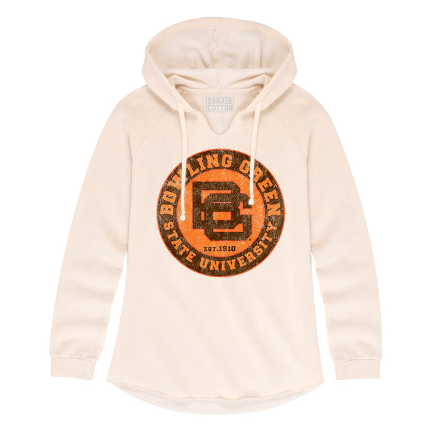 BGSU Bowling Green Falcons Vintage Cream Women's Hoodie